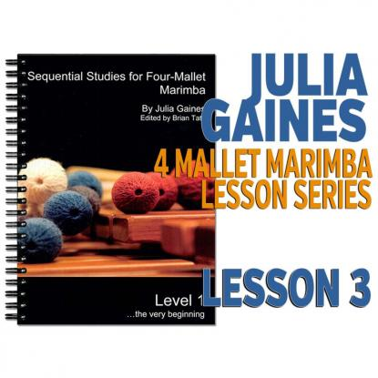 Sequential Studies for 4 Mallet Marimba, Lesson 3