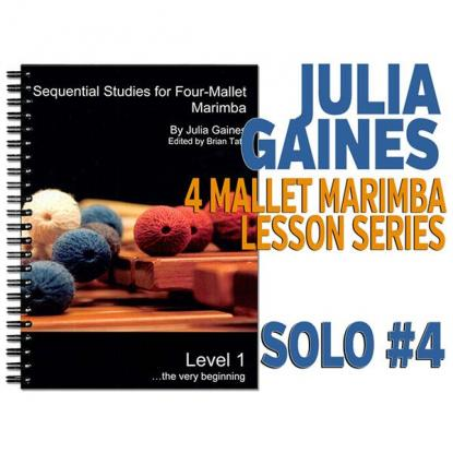 Sequential Studies for 4 Mallet Marimba, Solo #4