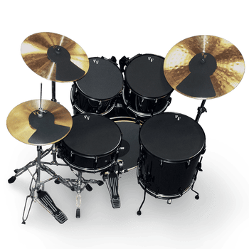 "Drum & Cymbal Mute Prepack – 10"", 12"", 14""(2), 20"", HiHat and Cymbals (2)"